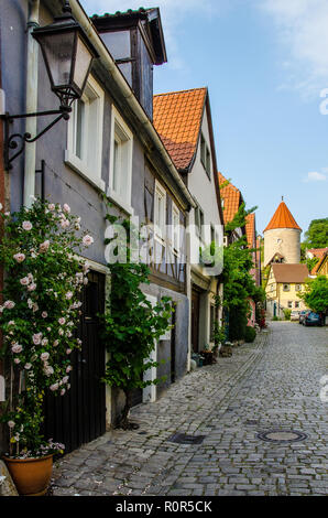 Sommerhausen is situated in the beautiful Main Valley, south of Würzburg, only some kilometres off the motorway A3 Frankfurt – Nuremberg. - Stock Image
