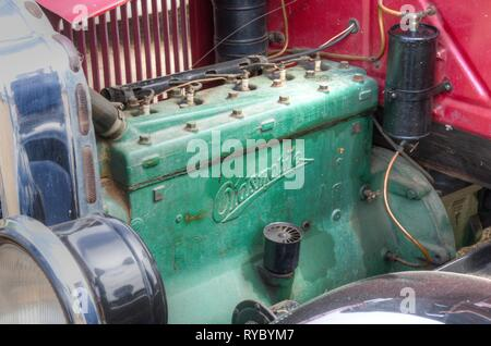 Engine of a 1927 Oldsmobile. - Stock Image