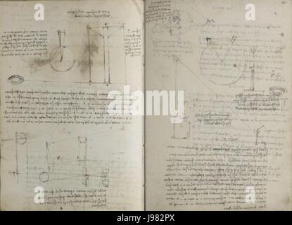 Paris Manuscript A Fol 20v 21r - Stock Image