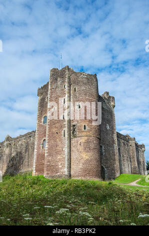 Exterior of Doune Castle near Stirling in Scotland, famous for being a major location for the film Monty Python and the Holy Grail - Stock Image