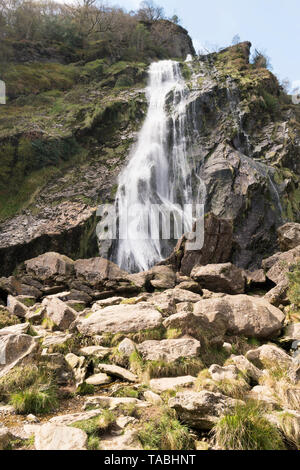 One of the highest waterfalls in Ireland is Powerscourt Waterfall on the river Dargle near Enniskerry in County Wicklow,Ireland. - Stock Image