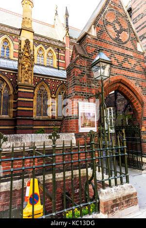 All Saints church, Margaret Street W1 London city, All Saints Church 1859 High Victorian Gothic Margaret Street - Stock Image