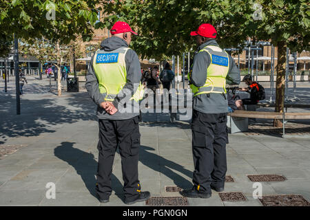 Security,Guards,Kings Cross Station,London,England - Stock Image