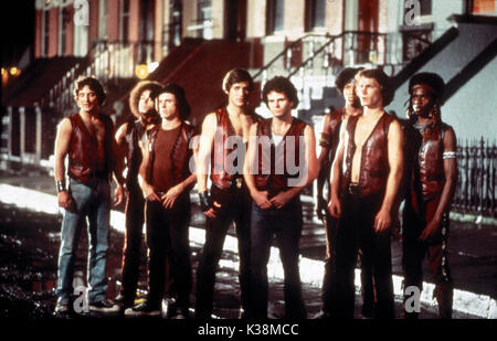 THE WARRIORS [?], [?], [?], JAMES REMAR, [?], BRIAN TYLER, MICHAEL BECK, DAVID HARRIS - Stock Image