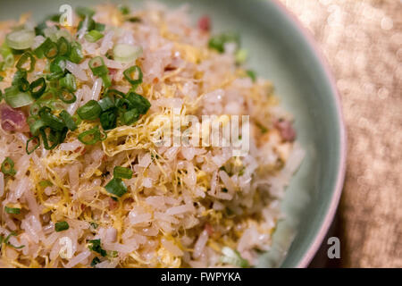 Cantonese fried rice served at Shang Palace Shangri-la Hotel Paris France - Stock Image