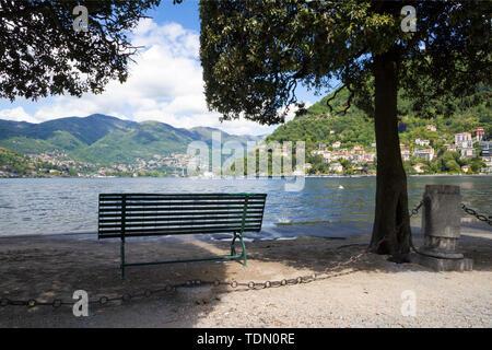 Como - The promenade and lake Como. - Stock Image