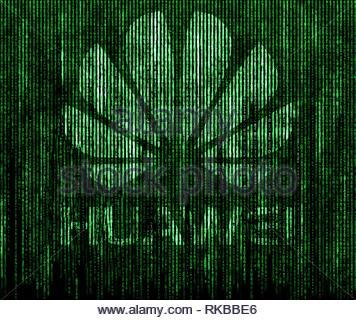 Huawei Backdoor Spying - Stock Image