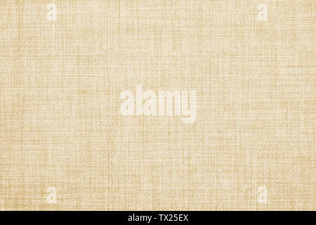 Beige colored seamless linen texture or fabric canvas background - Stock Image