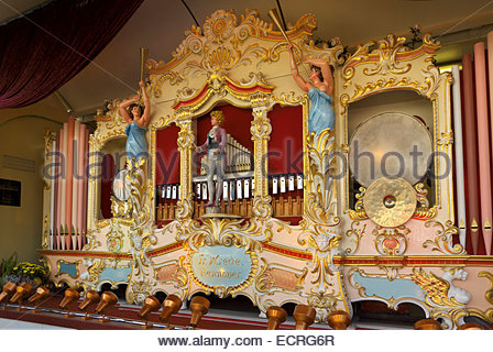 Fairground organ made by the firm of Fritz Wrede, Hannover - Stock Image