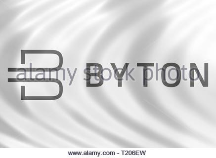 Byton logo - Stock Image