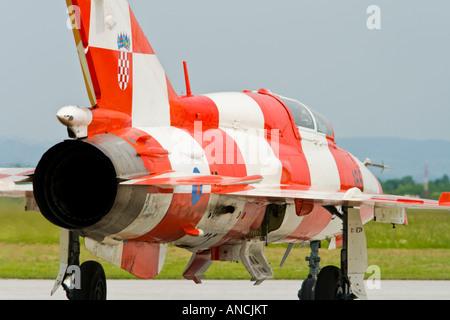 Croatian Air Force MiG-21 UMD taxiing - Stock Image