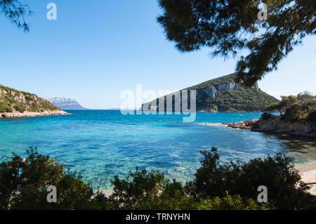 italy sardinia cala moresca bay in aranci gulf - Stock Image