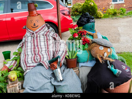 North Kyme, Sleaford, Lincolnshire - Scarecrow Festival - Stock Image