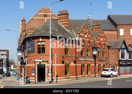 The First and Last Cabaret and Sports bar Bar None in Leigh, once part of the county of Lancashire, now part of - Stock Image