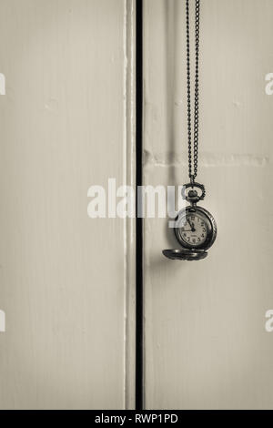Monochrome of a pocket watch - time concept - nostalgia - Stock Image