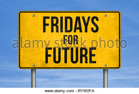School strike for climate - Fridays for Future - Stock Image