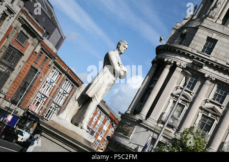 Statue in Dublin City, Ireland - Stock Image