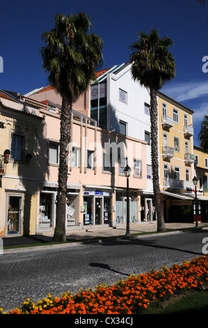 Shops in the Portugese resort town of Cascais - Stock Image
