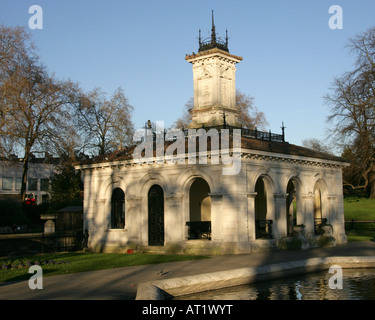 Italian Garden Summerhouse Kensington Palace Gardens Hyde Park London UK - Stock Image