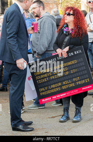 Greg Marshall at a Labour Party rally in Broxtowe, Nottingham, UK - Stock Image