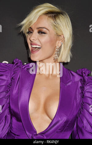 BEBE REXHA American singer at  Spotify's Best New Artist Party at the Hammer Museum on February 07, 2019 in Los Angeles, California. Photo: Jeffrey Mayer - Stock Image