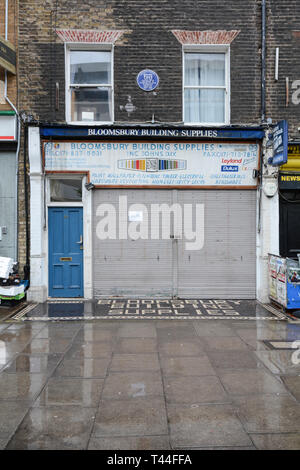 Bloomsbury Building Supplies, Marchmont, Street, Camden, LOndon, WC1, UK - Stock Image