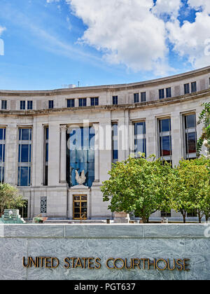 United States Federal Courthouse building front entrance to law enforcement center in Montgomery Alabama, USA. - Stock Image