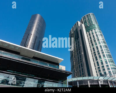 Highrise buildings at Southbank, Melbourne, Victoria, Australia - Stock Image