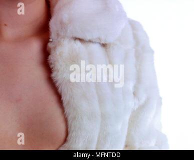 Close Up of Fur Coat   Ref: CRB456_10063_010  Compulsory Credit: JENNY CIAPUTA / Photoshot - Stock Image