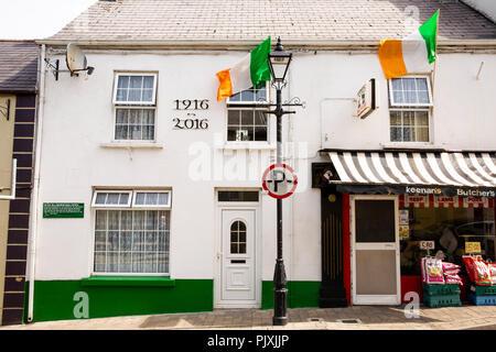 Ireland, Co Leitrim, Manorhamilton, Sean MacDiarmarda, leader of Easter Rising's Office, Sinn Fein history - Stock Image