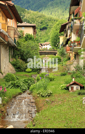 River Rio Maggiore di Levico Terme - Stock Image