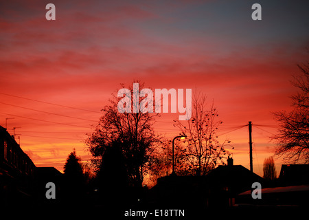 Urban Sunset, UK - Stock Image