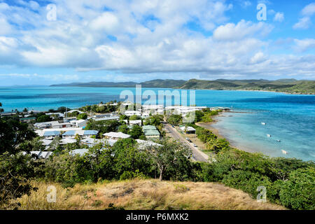 View of Thursday Island township and Torres Strait Islands from Green Hill Fort lookout, Far North Queensland, FNQ, QLD, Australia - Stock Image