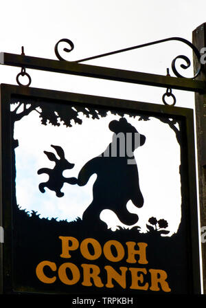 Pooh Corner - Shop with souvenirs of Winnie the Pooh in Hartfield, Ashdown Forest - Stock Image