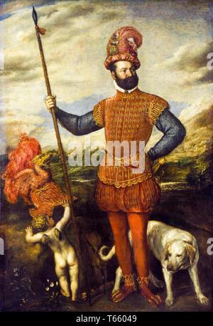 Titian, Man in Military Costume, c. 1550 - Stock Image