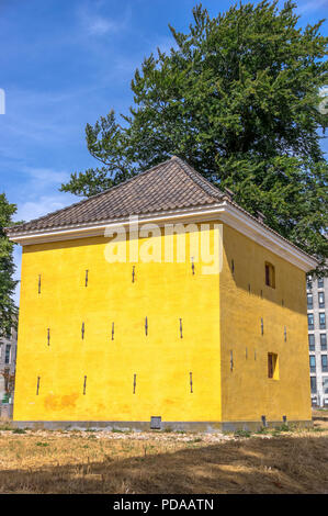 Gunpowder Tower from 1675 located on the Lolland Bastion in the former fortress town in the eastern part of Jutland - Fredericia, Denmark. - Stock Image