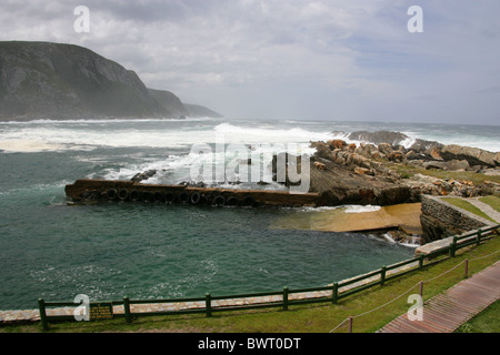 Storms River Mouth, Tsitsikamma Nature Reserve, South Africa. Garden Route Otter Trail. - Stock Image