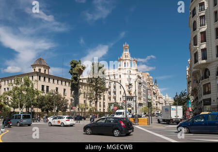 Valencia street scene, South Ciutat Vella district, Valencia, Spain - Stock Image
