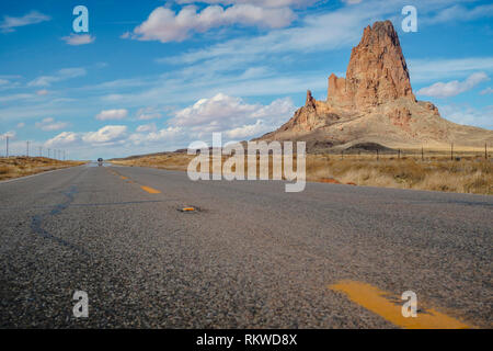 Agatha Peak on the way to Monument Valley. - Stock Image