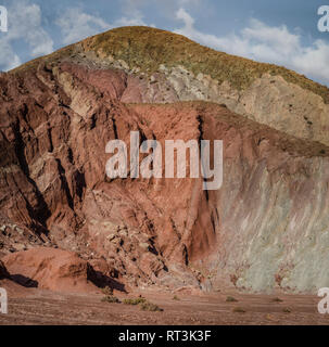 Rainbow valley, Atacama Desert, Chile. - Stock Image