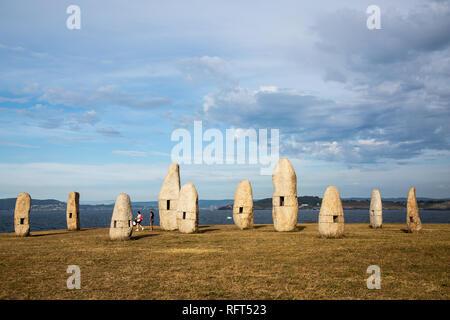 Menhires in A Coruna, Galicia, Spain - Stock Image