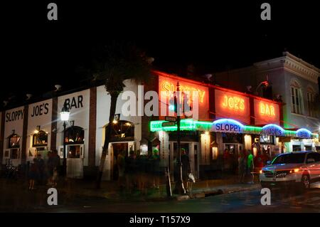 at Mallory Square on Key West, Florida Keys, Florida, USA - Stock Image