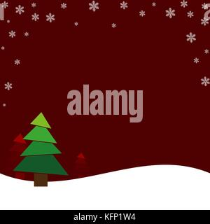 Christmas red light vector background. Merry Christmas message label Greeting card design or invitation and holidays - Stock Image