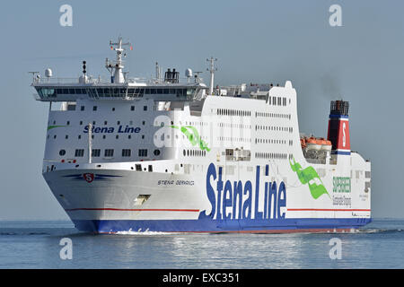 Stena Germanica inbound for Kiel - Stock Image