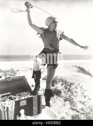 Female pirate - Stock Image