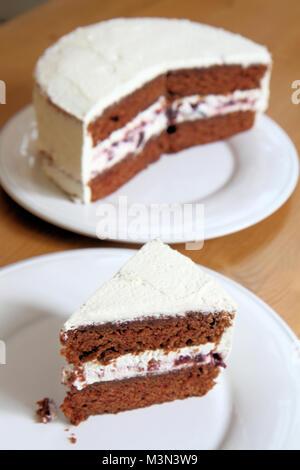 Black forest cake - Stock Image