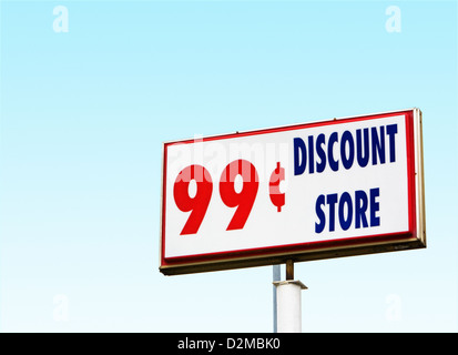 99 cent store sign - Stock Image