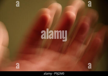 Blurred hand - Stock Image