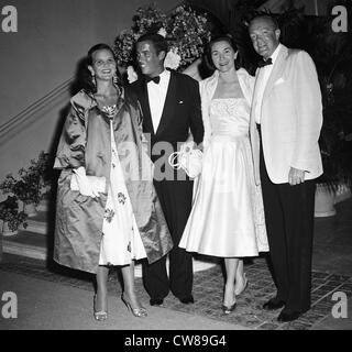 Lily Pulitzer and husband Herbert Pulitzer Jr, Mrs. Patricia Massie Tevander and Alexander Cameron., Palm Beach, - Stock Image