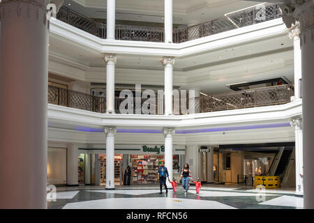 Interior of Whiteleys Centre, Queensway, Bayswater, City of Westminster, Greater London, England, United Kingdom - Stock Image
